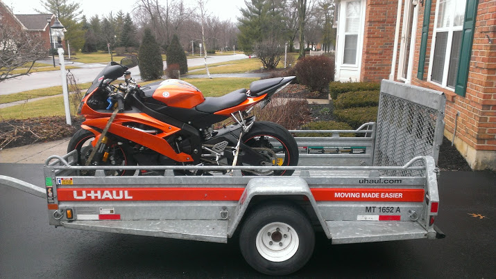 Motorcycle: U Haul Motorcycle Trailer